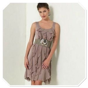 Ric Rac M gray rising vapors sleeveless dress